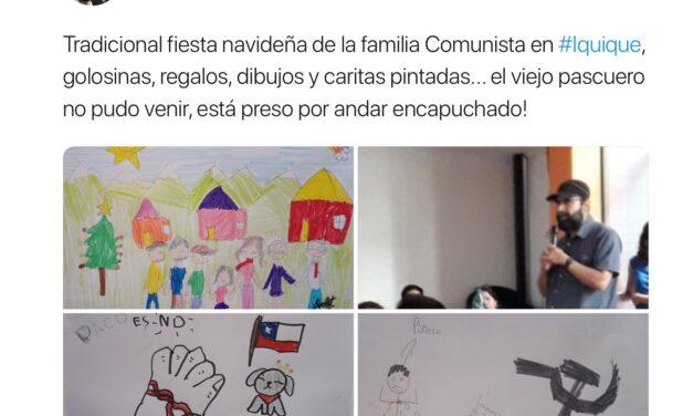 El polémico dibujo en que Hugo Gutiérrez aparece disparándole a Piñera