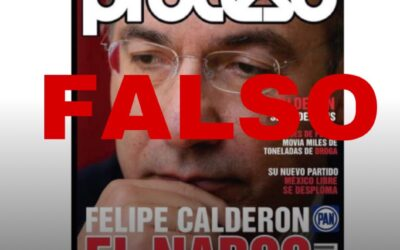 Revista mexicana sindica a ex Presidente Calderón como narco