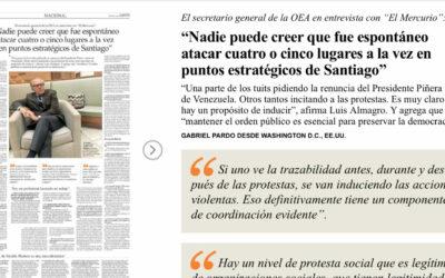 Quién es Luis Almagro, el enemigo de Maduro que apunta al rol de Cuba y Venezuela en las protestas en Chile