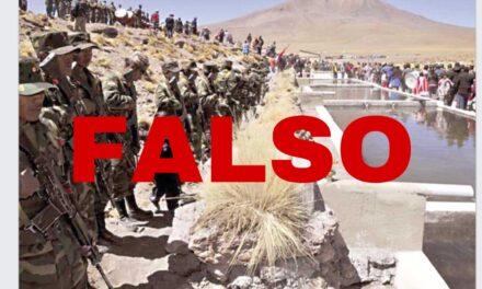 Militares chilenos toman posición en el Silala