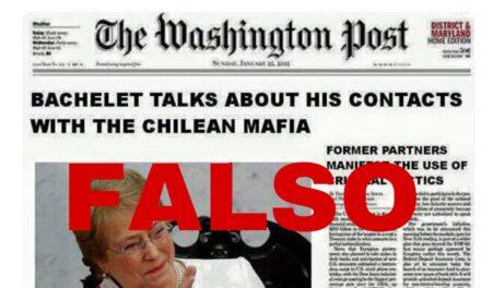 Falsa portada de The Washington Post dice que Bachelet habló sobre vínculos con la mafia