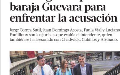 Abogada de Nicolás López surge entre las opciones para defender al intendente Guevara en acusación constitucional