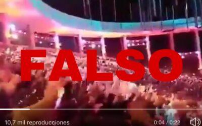 Video de Festival de Olmué con cánticos contra Piñera es falso