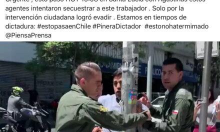 Intento de detención de peatón en el centro de Santiago fue realizado por Carabineros