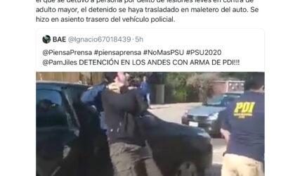 PDI desmiente haber trasladado a detenido en maletero de un auto