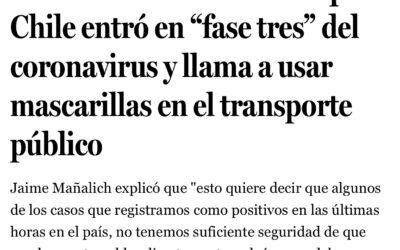 Piñera contradice a Mañalich y sigue la recomendación de la OMS por uso de mascarillas
