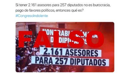 Es falso que la Cámara de Diputados tenga más de dos mil asesores para 257 parlamentarios