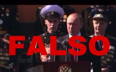 Video de Vladimir Putin en que acusa a líderes mundiales de un plan diabólico es falso