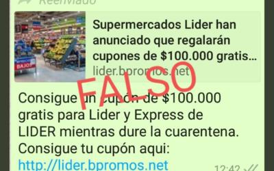 Cupones de $100.000 de Walmart Chile para la cuarentena son falsos