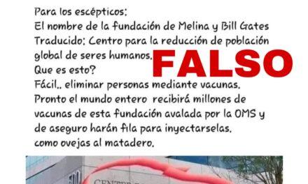 Sergio Melnick difunde fotografía falsa de fundación de Bill Gates