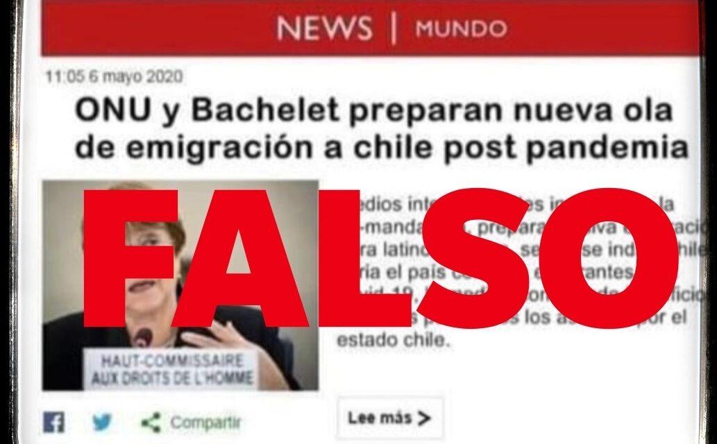 No, la BBC no publicó que la ONU y Bachelet tienen un plan de reubicar a 500 mil inmigrantes en Chile cuando termine el coronavirus