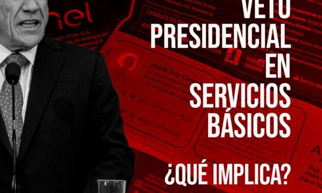 Qué implica el veto presidencial en el proyecto que prohíbe el corte de servicios básicos