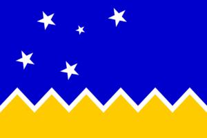 Bandera de la región de Magallares y la Antártica Chilena