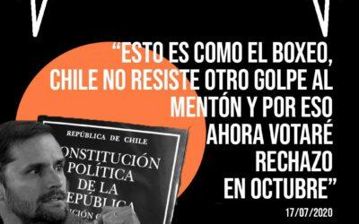 Diputado Jaime Bellolio cambia de opinión y da su rechazo al plebiscito de octubre, luego de haberlo apoyado meses antes