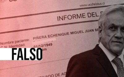 Es falso el informe médico que dice que el Presidente Piñera tiene un daño derivado de agnosia