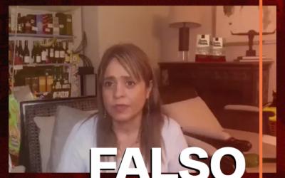 Video de Van Rysselberghe rodeada de botellas de alcohol es falso