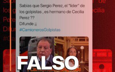 Es falso que Cecilia Pérez sea hermana del presidente de los camioneros