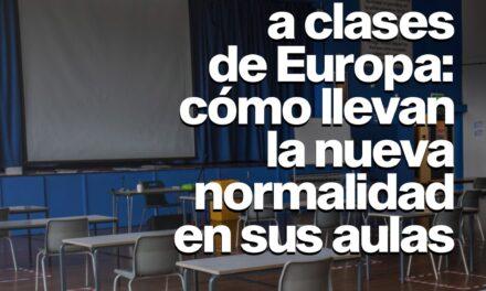 Escritorios personales, ventilación y distanciamiento: cómo vuelven las clases en Europa