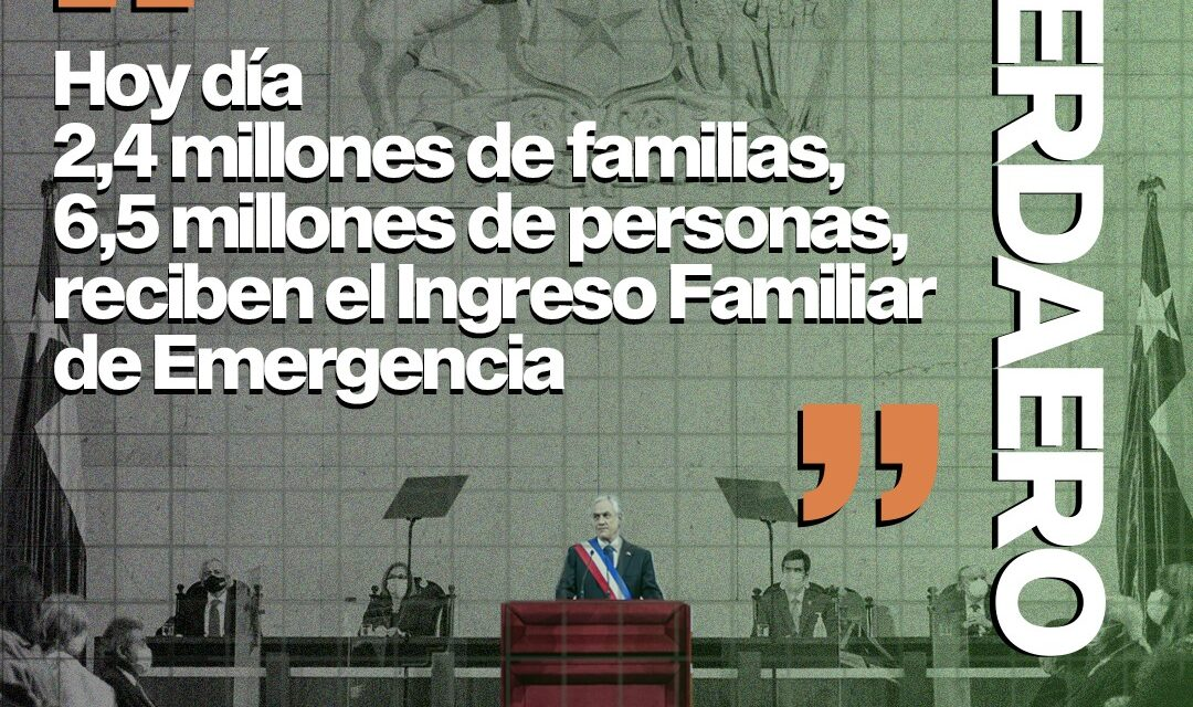 Verdadero: 2,4 millones de familias están recibiendo el Ingreso Familiar de Emergencia