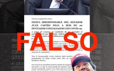 Seremi de Salud del Maule descarta denuncia por supuesta fiesta del senador Juan Castro