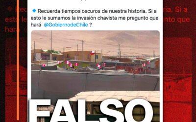 Es falso que se izaron banderas peruanas en San Miguel de Azapa, en el norte de Chile