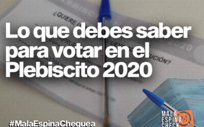 Lo que debes saber para votar en el Plebiscito 2020