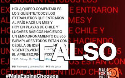 Es falso que los inmigrantes recién llegados a Chile van a poder votar en el plebiscito