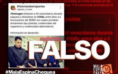 Es falso que 60 venezolanos fueron detenidos durante las protestas en Chile