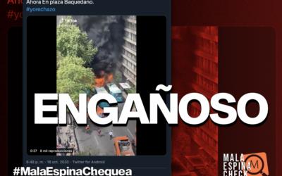 Viralizan video de buses quemándose, pero el hecho ocurrió hace un año