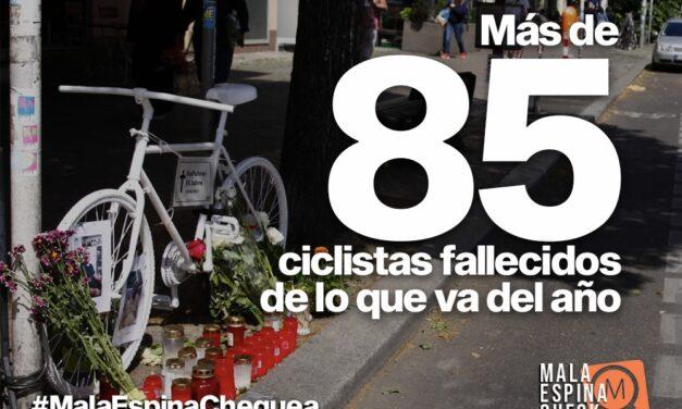 Más de 85 muertes de ciclistas en lo que va del año