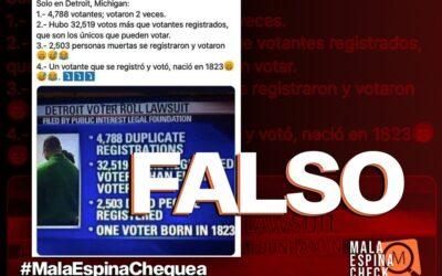 Es falso que 2.503 personas votaron con la identidad de gente fallecida en Detroit, Michigan