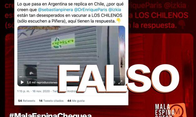 Es falso que están llegando cámaras crematorias a Chile para quienes fallezcan por la vacuna contra el Covid-19