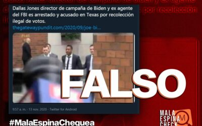 Es falso que hayan detenido al jefe de campaña de Joe Biden
