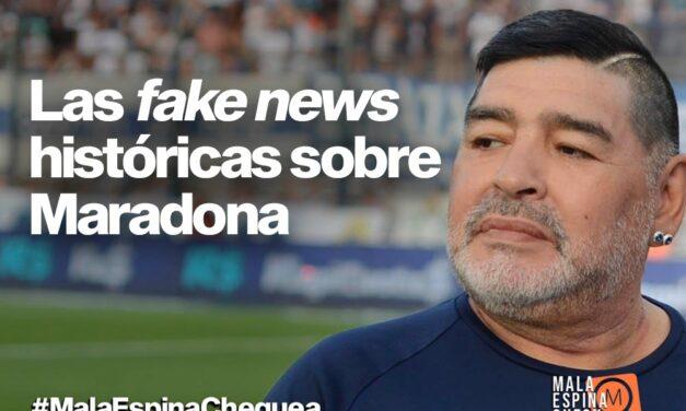 Las fake news históricas sobre Maradona