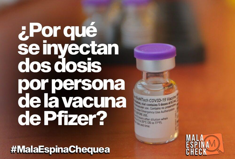 ¿Por qué se inyectan dos dosis por persona de la vacuna de Pfizer?