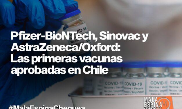 Pfizer-BioNTech, Sinovac y AstraZeneca/Oxford: Las primeras vacunas aprobadas en Chile