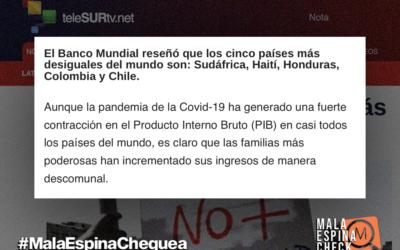 Datos del Banco Mundial no respaldan que Chile sea uno de los cinco países más desiguales en el mundo
