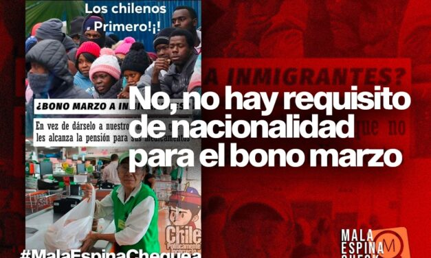No, no hay requisito de nacionalidad para el bono marzo
