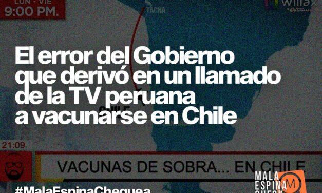 El error del Gobierno que derivó en un llamado de la TV peruana a vacunarse en Chile