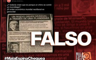 Es falsa la teoría de la plandemia compartida en redes por Hugo Gutiérrez