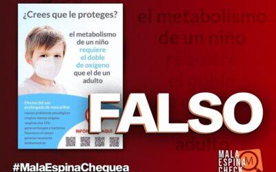 El uso de mascarillas no provoca neumonía ni cáncer en niños