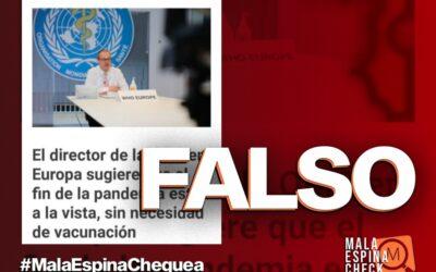 El director de la OMS en Europa no dijo que el fin de la pandemia está cerca sin necesidad de vacuna