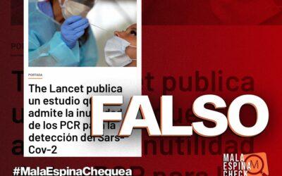 """No, 'The Lancet' no ha publicado un estudio sobre la """"inutilidad"""" de las PCR"""