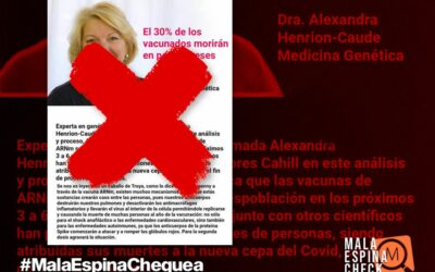 Las afirmaciones falsas o sin evidencias del cartel que dice que el 30% de los vacunados contra el COVID-19 morirán en pocos meses
