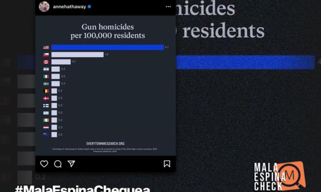 Las precisiones sobre el estudio que difundió la actriz Anne Hathaway que muestra a Chile segundo en homicidios por armas de fuego
