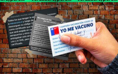 Es real el link mevacuno.cl, pero no sirve para emitir certificados de vacunación que se exigen en el aeropuerto