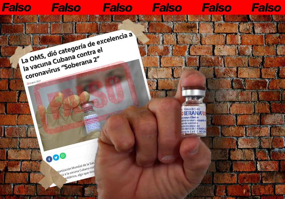 OMS dio categoría de excelencia a la vacuna cubana contra Covid
