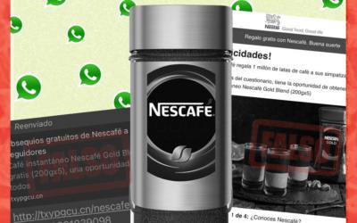 Es falso que Nestlé está regalando un millón de latas de café, como se viralizó en WhatsApp