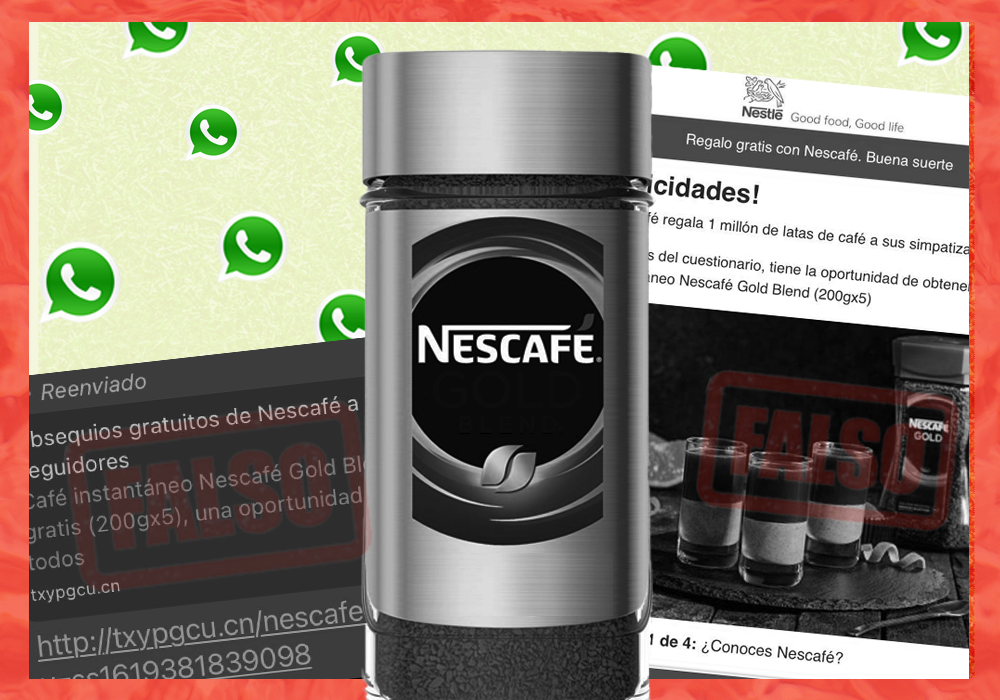 Es falso que Nestlé está regalando un millón de latas de café