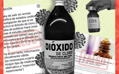 Es falso que un estudio científico haya demostrado la efectividad del dióxido de cloro contra el COVID-19